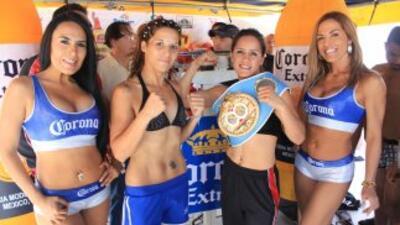 Matthysse y Rivas en peso para su combate (Foto: Canelo Promotions)