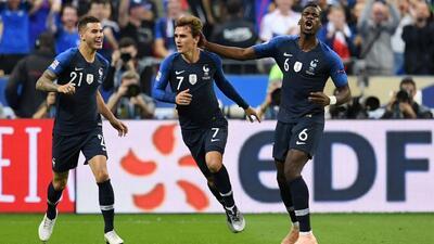 Los goles del triunfo 2-1 de Francia sobre Alemania en la UEFA Nations League