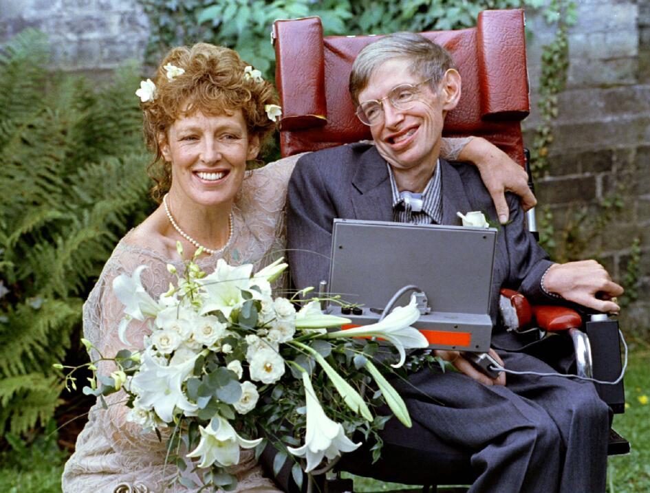 El día de su boda con su segunda esposa, Eliane, en 1995.