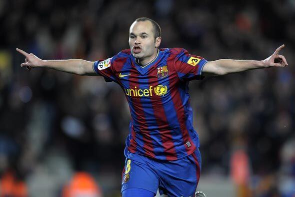 Era el partido 300 de Andrés Iniesta con el Barcelona y lo celebró con s...