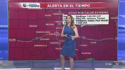 Se extiende alerta por calor extremo para este fin de semana en el Metroplex