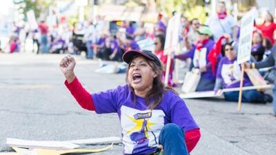 Mujeres protestan por las malas condiciones laborales