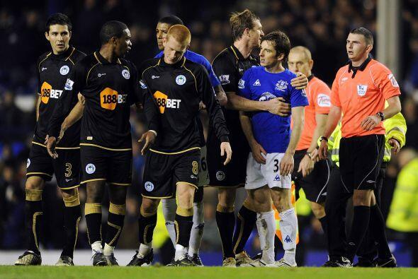 Everton y Wigan Athletic quedaron en deduda, jugaron un partido aburrido...