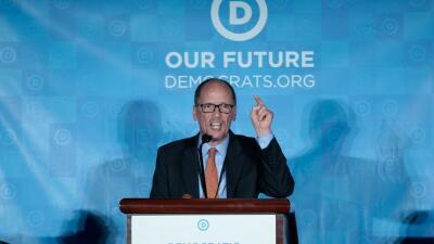 Tom Pérez tras ser elegido líder de los demócratas.