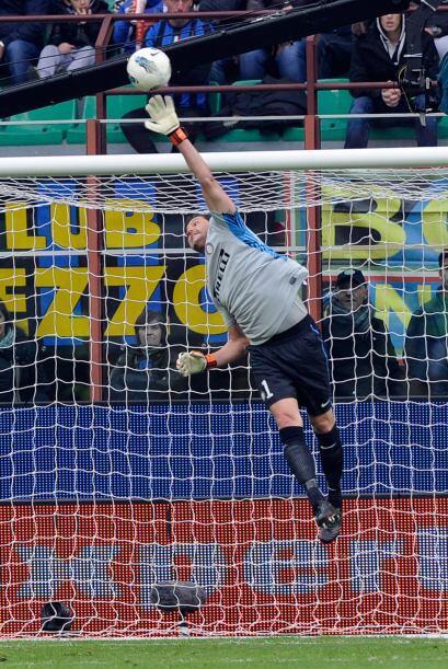 El cancerbero del Inter de Milán tuvo una enorme actuación en contra de...