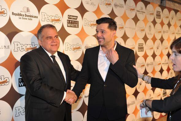 Una verdadera estrella: Ricky Martin llegó y levantó los gritos y aplaus...