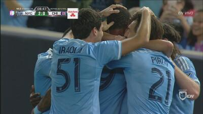 New York City anotó dos goles en menos de un minuto a Chicago Fire