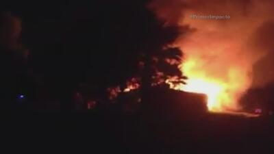 Sale a luz video que muestra el momento del incendio en un asilo en México