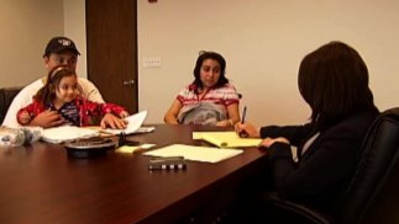 Rocío Sánchez junto a su familia durante el tratamiento de cáncer.