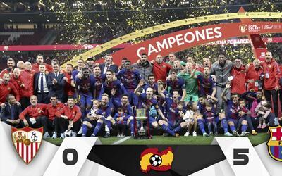 Barcelona, Campeón Copa del Rey