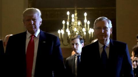 Donald Trump y Mitch McConnell en una aparición reciente