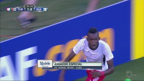 Maikel Reyes mete a Cuba en Cuartos de Final con un golazo de palomita