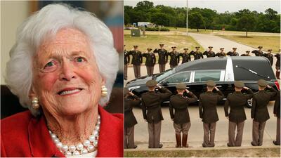EEUU despide a la exprimera dama Barbara Bush en una sentida ceremonia en Houston, Texas
