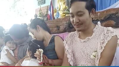 (Video) Mira la tierna razón por la que este papá se vistió de mujer