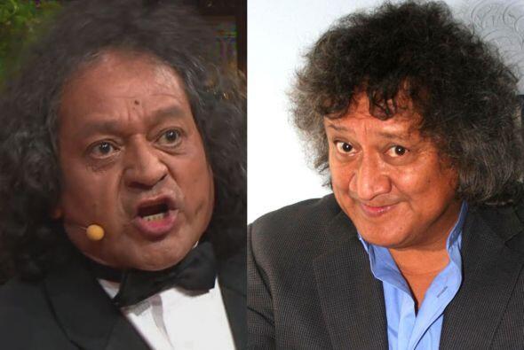 Armando Fuentes hace las chistosísimas caras del comediante Jorge Falcón.