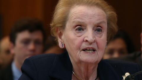 Madeleine Albright, exsecretaria de Estado de Estados Unidos.