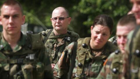 Soldados de la Reserva del Ejército de Estados Unidos.