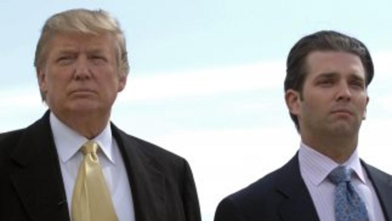Donald Trump y su hijo Donald Jr. se han relacionado con personas cuesti...