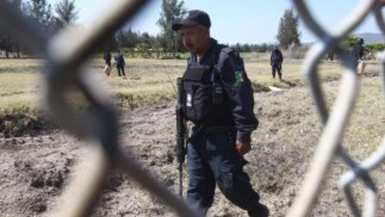 Presencia policial en Tanhuato, Michoacán.