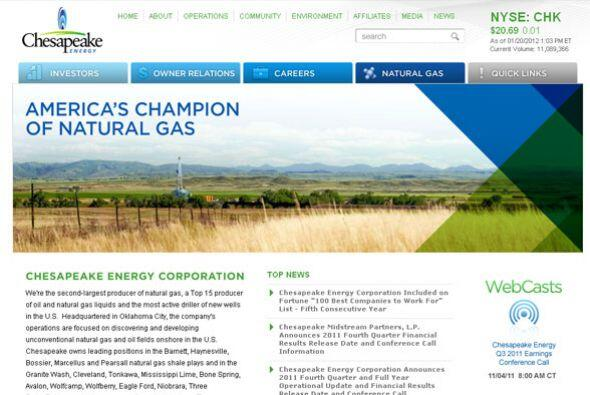 5. CHASEPEAKE ENERGY- Son 900 plazas las que Chasepeake Energy está ofre...