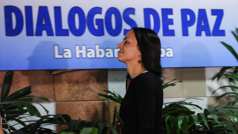 Tanja Nijmeijer llega al Palacio de Convenciones de La Habana.