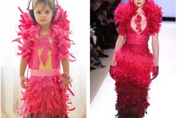Vestido de Jay McCarroll's en semana de la moda de  Project Runway .   C...