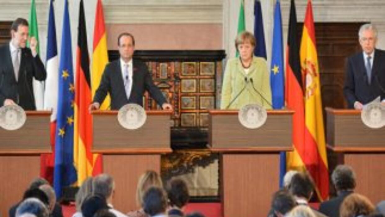 Líderes de España, Italia, Alemania y Francia nunciaron que el plan de c...
