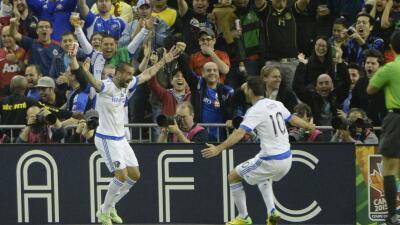 Ignacio Piatti y Andrés Romero celebran gol para Montreal Impact