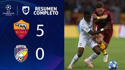 Roma 5-0 Plzen - GOLES Y RESUMEN - Grupo G UEFA Champions League