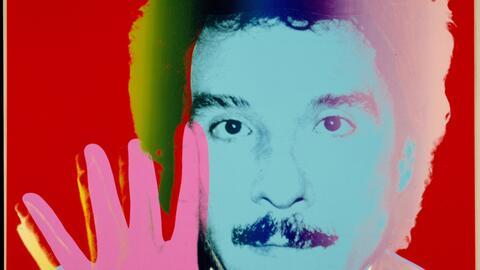 El artista Antonio López retratado por Andy Warhol en los años 80