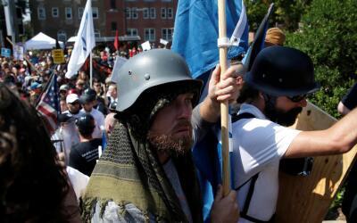White supremacists in Charlottesville, Virginia.