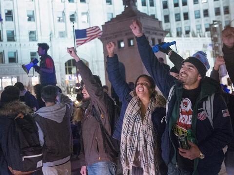 Imágenes del segundo día de protestas en Chicago por la mu...