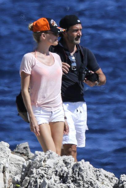 La pareja se encuentra en Saint Tropez, Francia.
