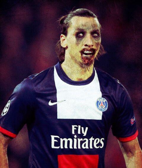 Zlatan Ibrahimovic, estupendo futbolista sueco que brilla en el París Sa...