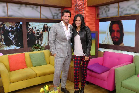 Karla Martínez le dio la bienvenida al actor y charló con él sobre su nu...