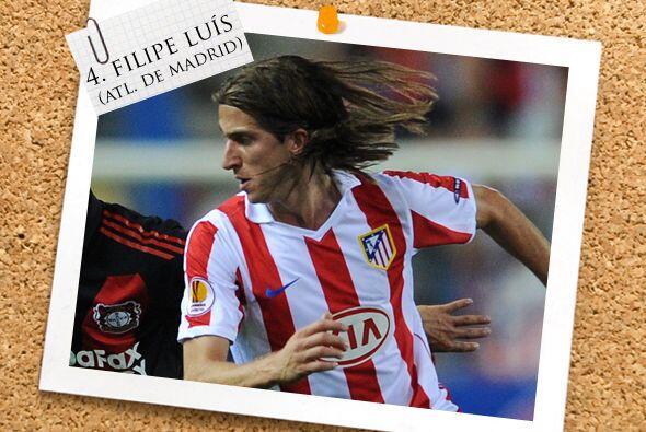 Por la lateral izquierda tenemos a Filipe Luíz, del Atlético de Madrid.