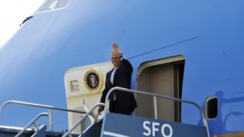 Obama regresó a San Francisco