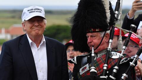Donald Trump durante su visita en Escocia