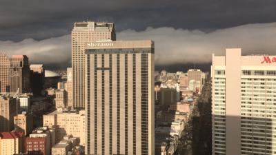 Una imagen publicada en Twitter de cómo se vio la nube nube enrol...