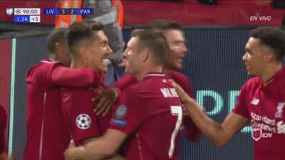 Firmino opacó el gol que marcó Mbappé en el segundo tiempo del partido entre Liverpool y PSG