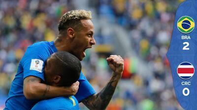 Coutinho y Neymar salvan a Brasil, que vence sobre la hora a una valiente Costa Rica