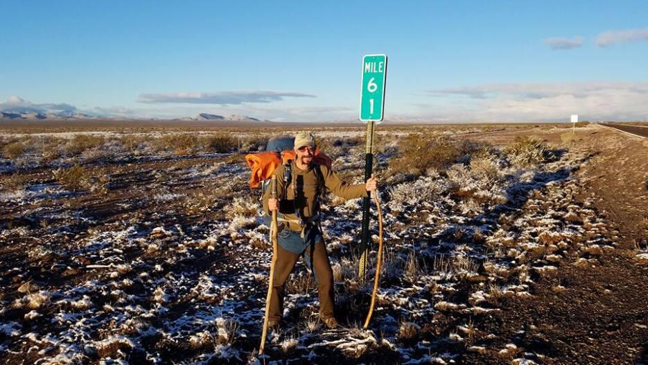 Algunos de los peligros que se topó en el camino fueron la falta de agua...