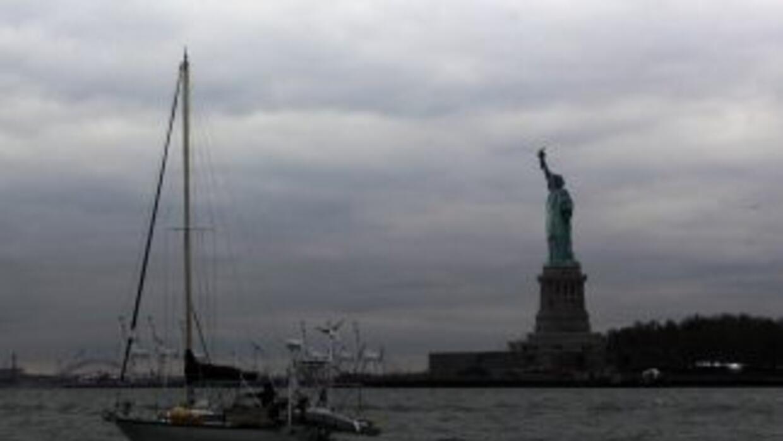La Estatua de la Libertad sufrió daños por Sandy.
