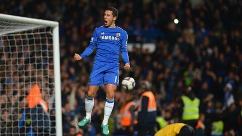 El belga Eden Hazard lo anotó y cumplía.