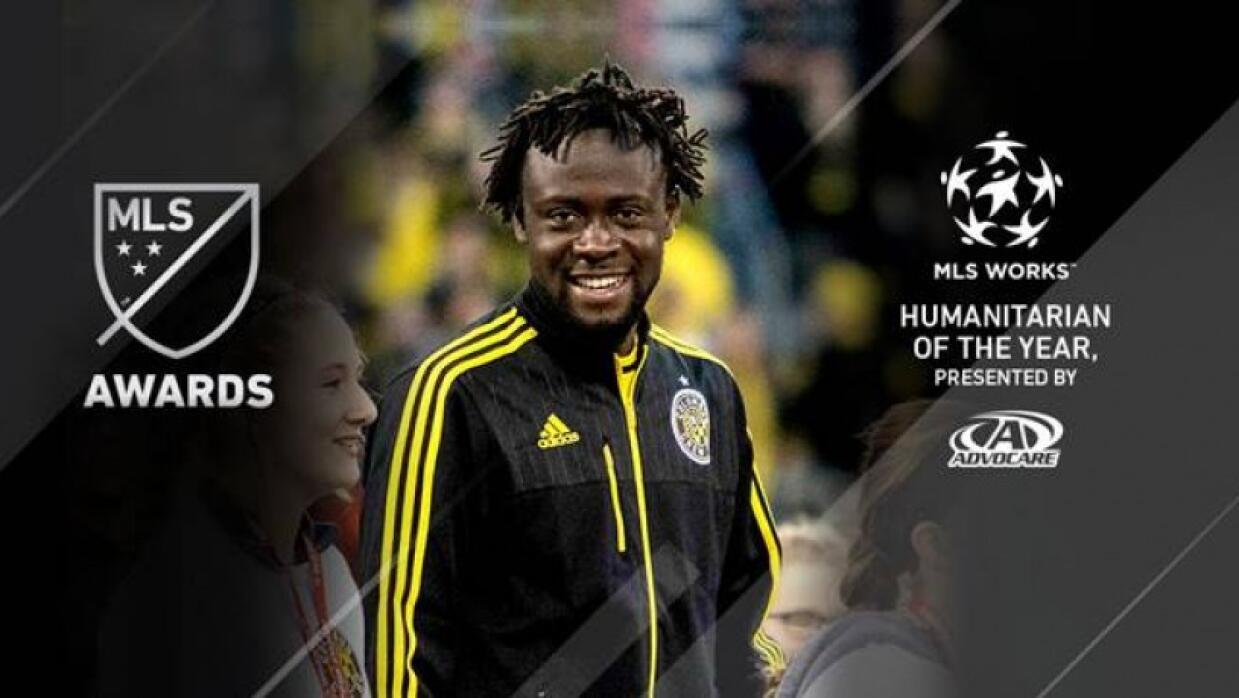 Kei Kamara fue distinguido como el jugador Humanitario del Año de MLS Works