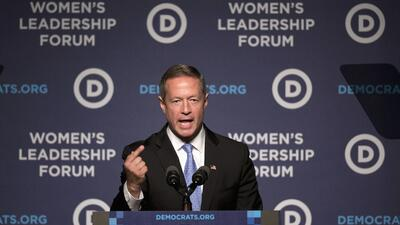 Martin O'Malley durante un evento reciente en Washington DC