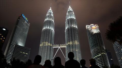 Las torres Petronas, en Kuala Lumpur, Malasia.