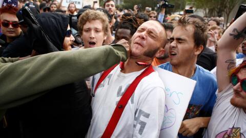 Aunque hubo protestas en Gainesville por la presencia del líder s...