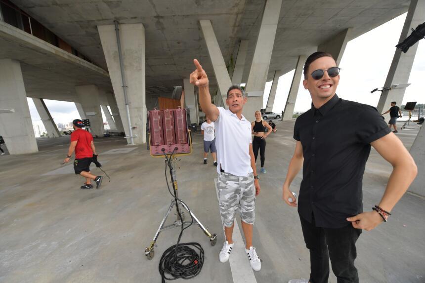Grabación pre opening MQB con Johnny Lozada