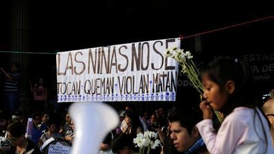 "Indignación en Guatemala: ""Las niñas no se tocan, queman, violan, matan..."""